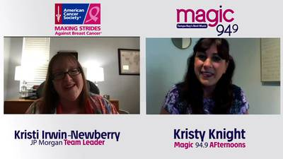 Kristy Knight chats with Kristi Irwin about this year's virtual Making Strides Against Breast Cancer