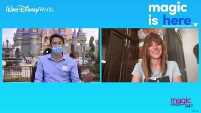 Danielle talks to Walt Disney World Ambassador, Stephen Lim